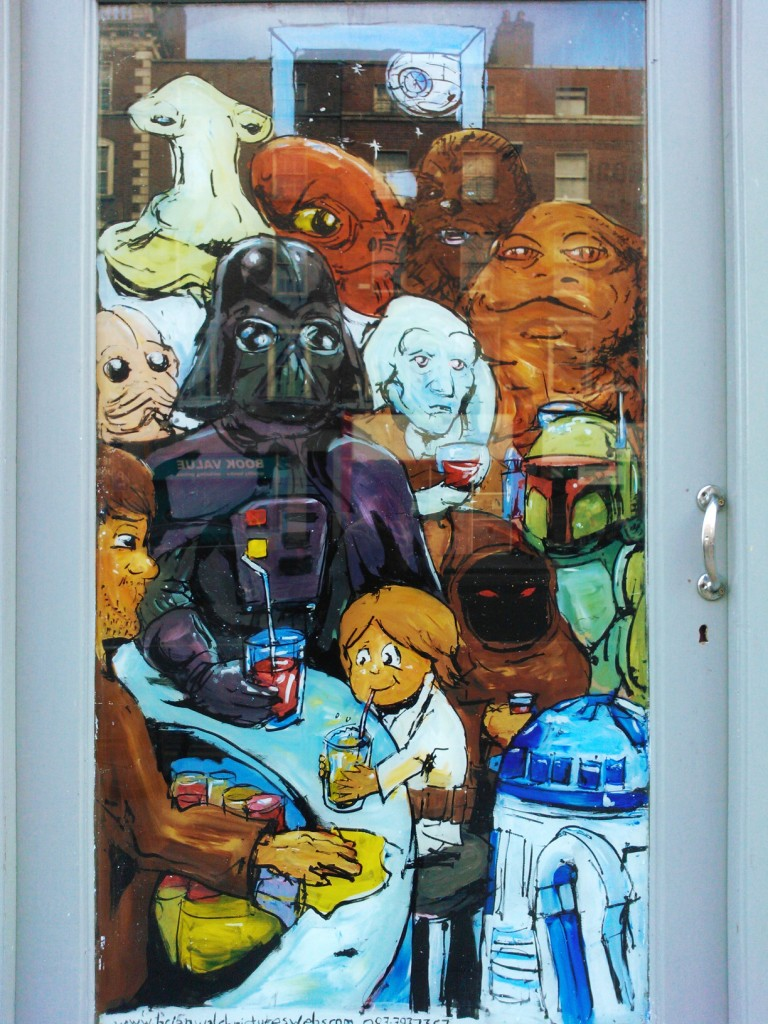 Dath and Son (inspired by Jeffrey Brown's Darth Vader and Son) – Cassidy's, Westmoreland St., Dublin 2