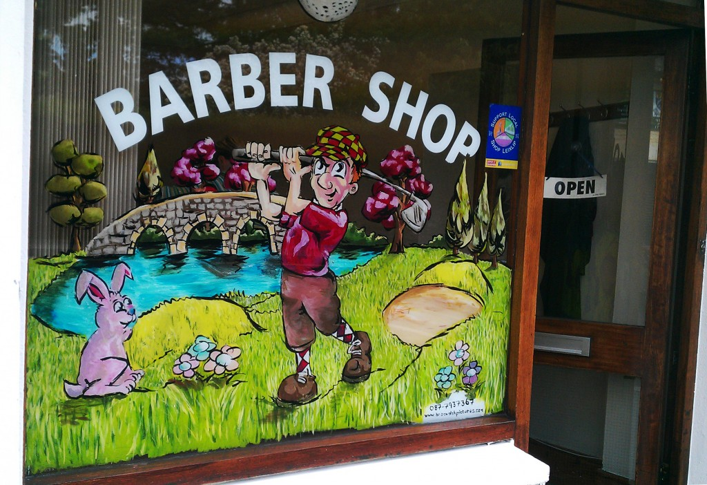 Golfer (Colours by Ian Nolan) – Barber Shop, Leixlip, Co. Kildare
