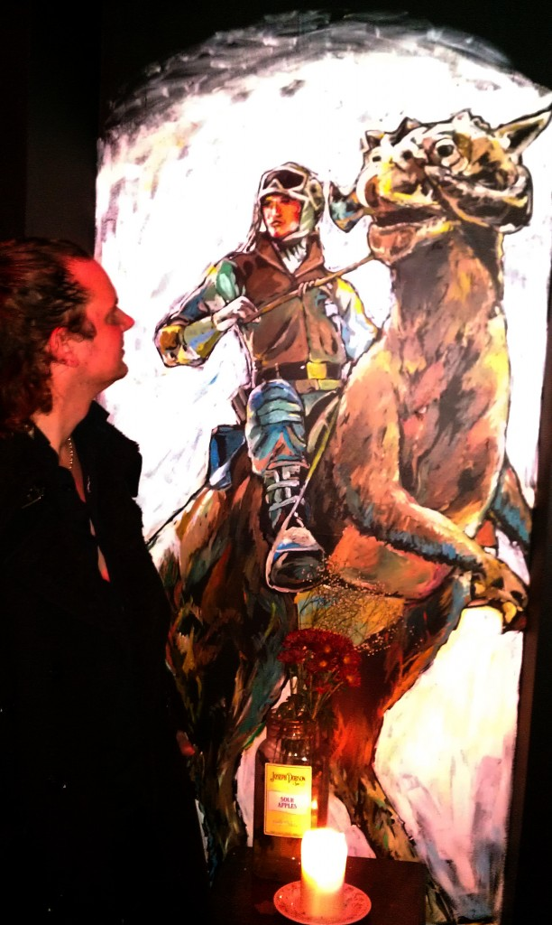 Luke on Tauntaun (after Ralph McQuarrie's work for Star Wars) – P Mac's, Stephen St. Lower, Dublin 2